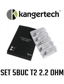 5 x  Kanger T2 - 2.2 ohm